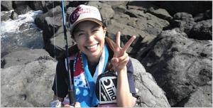 釣りガールの 松本昌子さん画像