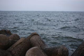 結構強い波