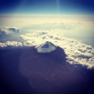 世界遺産富士山上空
