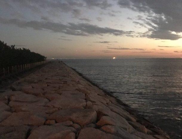 南芦屋浜の石畳