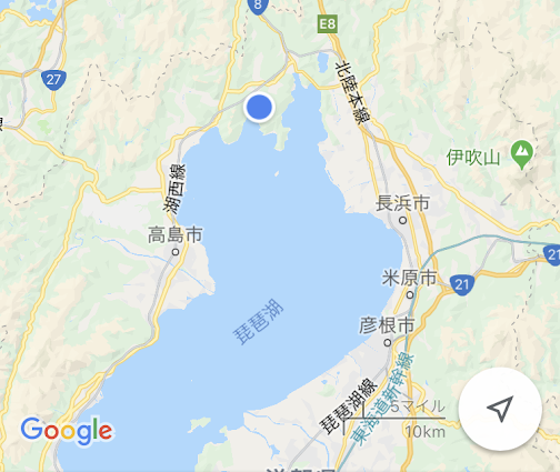 奥琵琶湖の場所