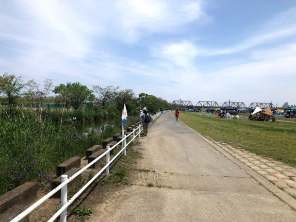 釣り場は淀川の城北ワンド近くの水路