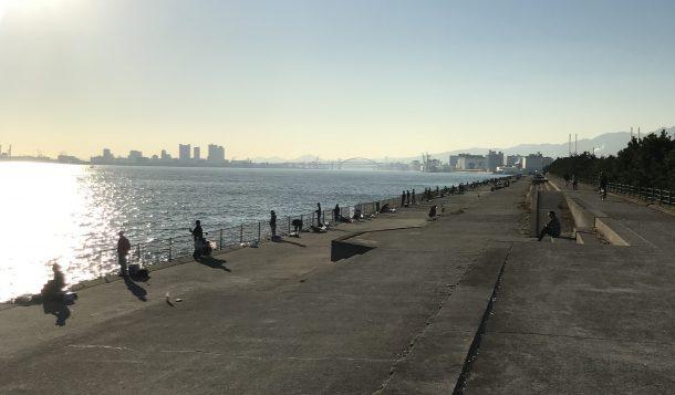 ぎっしりの芦屋浜