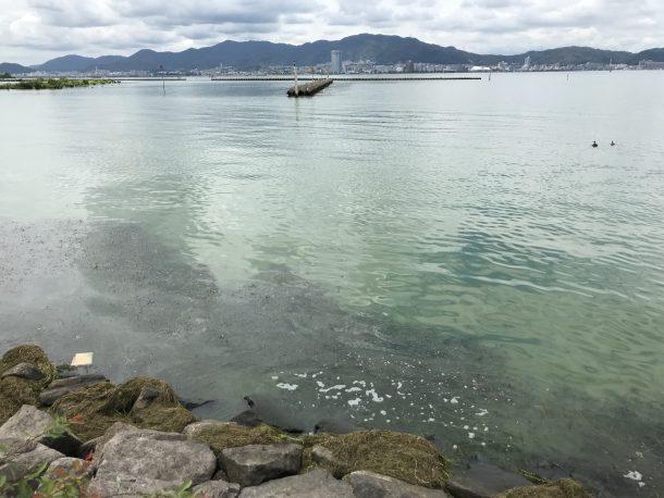 濁った琵琶湖