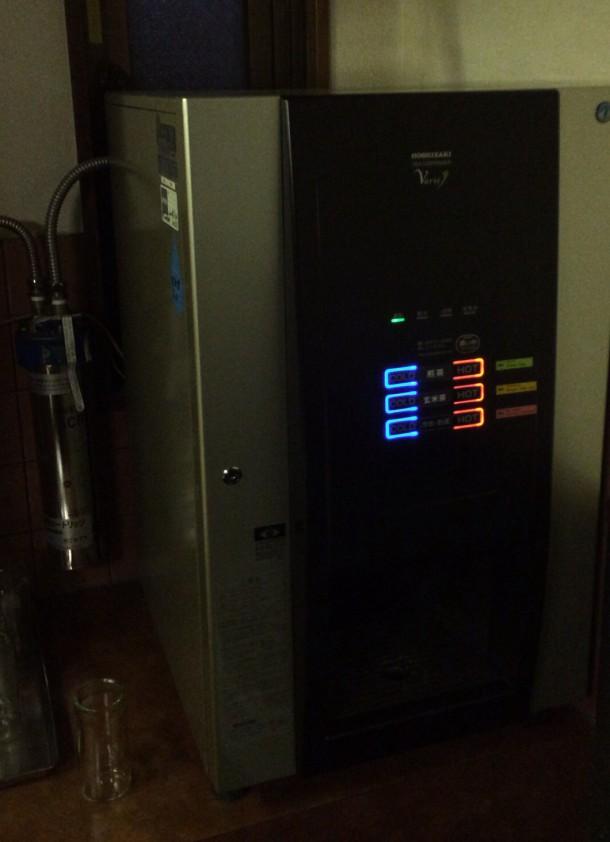 水とお湯の出るマシン