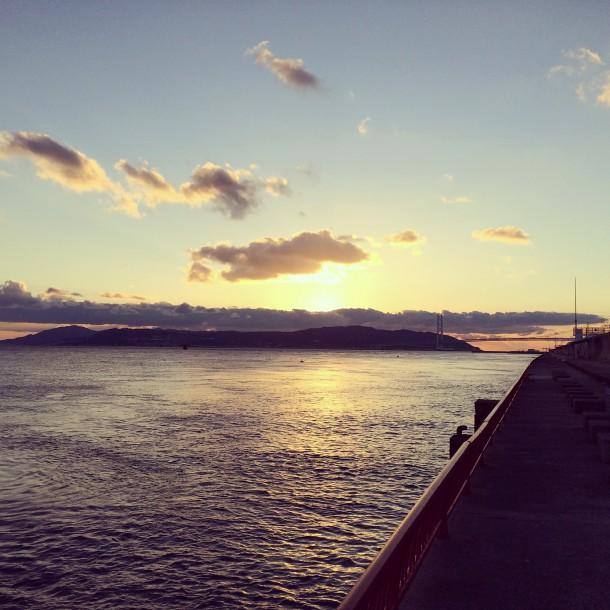 平磯からの夕暮れ