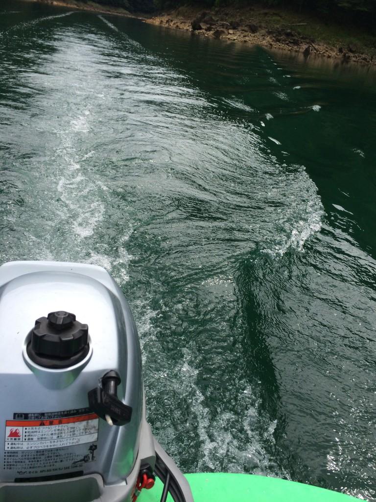 ボートで走る