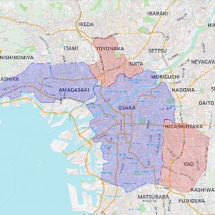 ウーバーイーツ大阪の範囲
